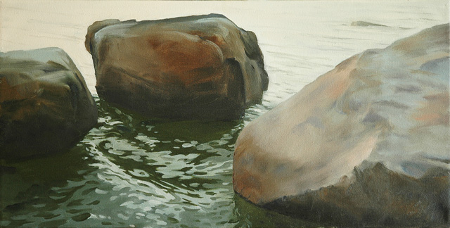 Swell, oil on canvas, 12 x 24, 2013