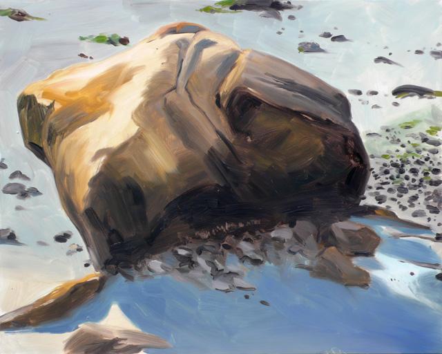 Yellow Rock, oil on panel, 16 x 20, 2009